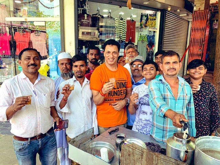 'A cup of tea is cup of peace'☕️ in #localArea  #Mumbai...